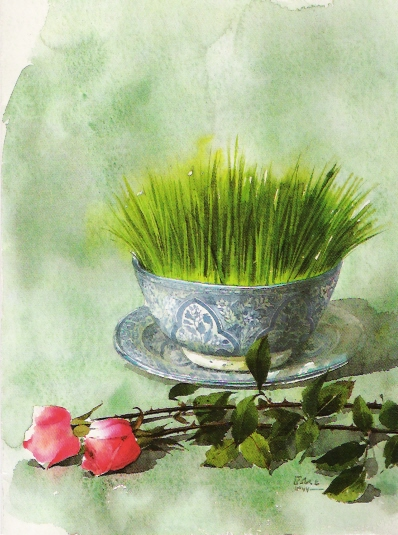 ع وروش سبز قره ماش خداونداطلسی - آموزش کاشت سبزه برای عید نوروز ۹۰